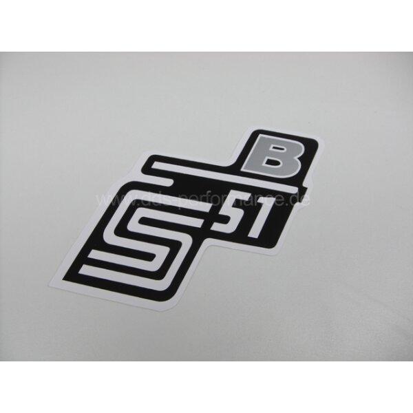 """Aufkleber """"S51B"""" für Seitendeckel - silber"""