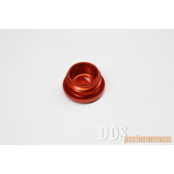 Verschlußschraube - Alu orange eloxiert - Kupplungseinstellung