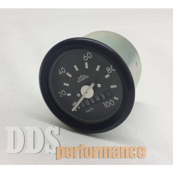 Tachometer 100km/h mit Logo