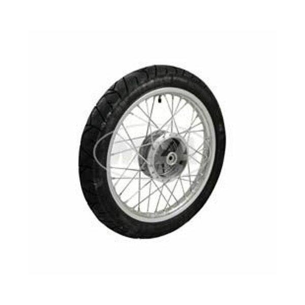 Komplettrad 1,5x16 - vorne - Alufelge + Edelstahlspeichen + Reifen Heidenau K55