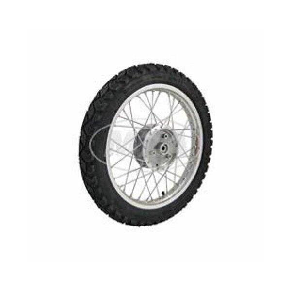 Komplettrad 1,5x16 - hinten - Alufelge + Chromspeichen + Reifen Heidenau K42