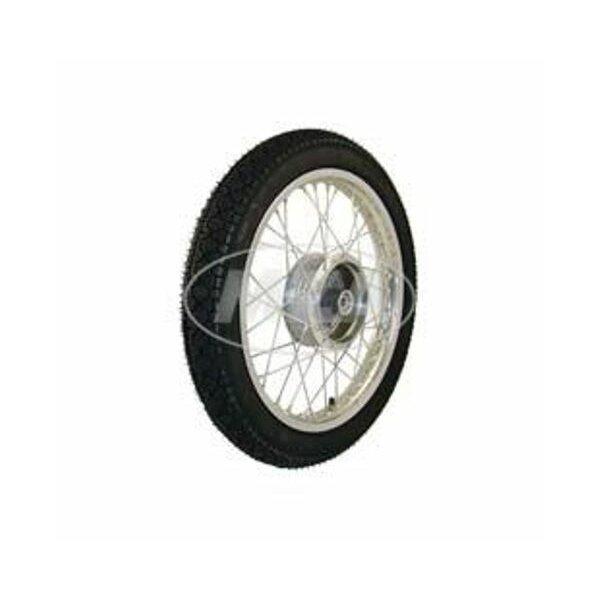 Komplettrad 1,6x16 - vorne - Alufelge + Edelstahlspeichen + Reifen Vee Rubber VRM 094
