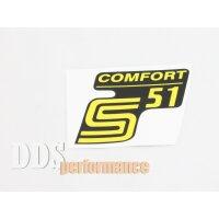 """Aufkleber """"S51 Comfort"""" für Seitendeckel -..."""