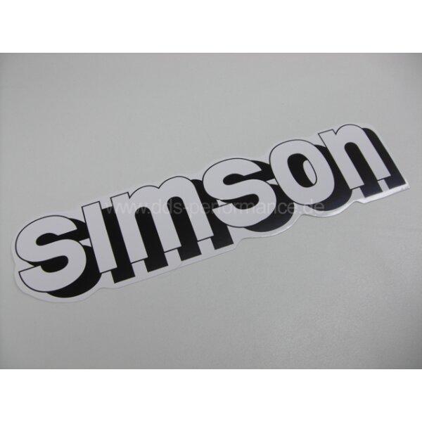 """Aufkleber """"Simson"""" für Tank - weiß"""