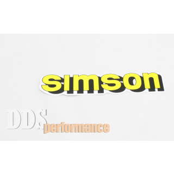 """Aufkleber """"Simson"""" für Tank - gelb"""