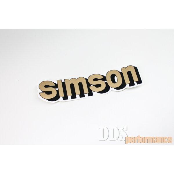 """Aufkleber """"Simson"""" für Tank - gold"""