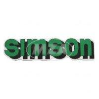 "Aufkleber ""Simson"" für Tank - grün"