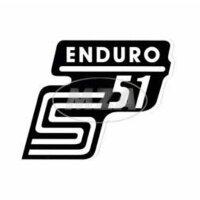 """Aufkleber """"S51 Enduro"""" für Seitendeckel -..."""