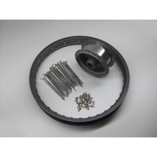 Speichenrad einspeichen und zentrieren für Simson KR50 (Vollnabe)
