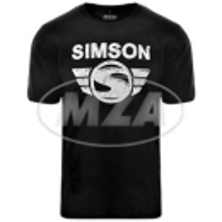 T-Shirt - schwarz - Motiv: Simson-Logo