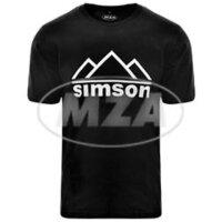 T-Shirt - schwarz - Motiv: SIMSON Berge