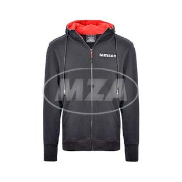 Sweatjacke - schwarz/rot - Motiv: SIMSON