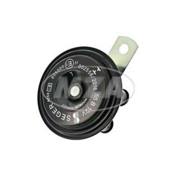 Hupe schwarz 12V mit Halter - Ø 77mm - S51,S70,S53 - MZ ETZ