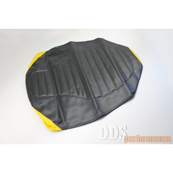 Sitzbezug schwarz/gelb strukturiert SR50,S53
