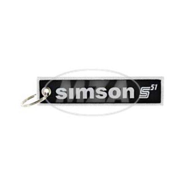 Schlüsselanhänger - Stoff - Motiv: Simson S51