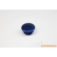 Verschlußschraube - Alu blau eloxiert - Kupplungseinstellung